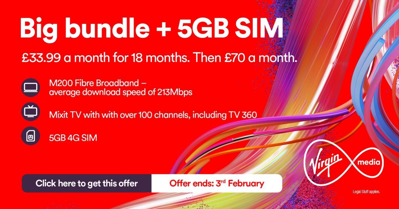 Virgin Media Deals for New Customers